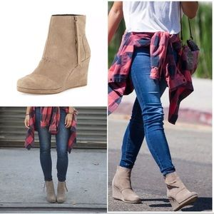 Toms Desert Wedge High Ankle Booties